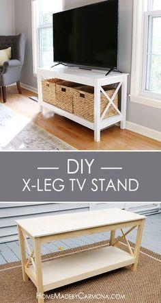 Wooden furniture ideas Handmade Diy Xleg Tv Stand Pinterest 1543 Best Diy Furniture Ideas Images In 2019 Do It Yourself Diy