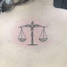 Libra Scale Tattoo, Libra Zodiac Tattoos, Libra Tattoo, Bff Tattoos, Friend Tattoos, Future Tattoos, Body Art Tattoos, Tatoos, Law Tattoo