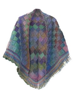 Knitting Pattern For Entrelac Shawl : 1000+ images about Entrelac on Pinterest Tunisian crochet, Knitting and Knits
