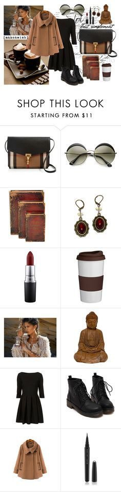 """""""Don't look back"""" by mssantos ❤ liked on Polyvore featuring Burberry, MAC Cosmetics, Trudeau, Flash Tattoos, Marc Jacobs, women's clothing, women, female, woman and misses"""