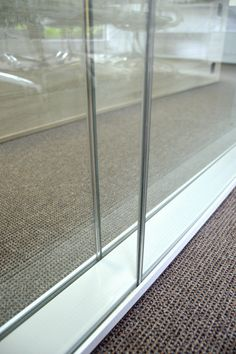 Another close up of the seamless finishes - 100mm executive movable walling system