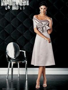 short bridesmaid Dress  tea length  strapless