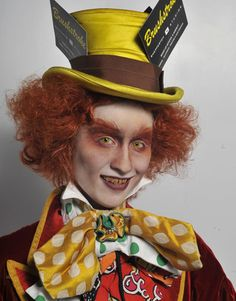Alice in wonderland | Mad Hatter | make-up by  Brushstroke at the 2010 IMATS London.
