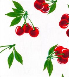 How about cherry oil cloth with a white background to make a grocery tote? <3 #Cherries #CherryOilcloth