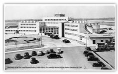 Old terminal building during the 1940s.   #Ireland #Airport #Dublin #DublinAirport #History #Aviation