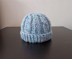 Birthday Cake Knit Baby Hat