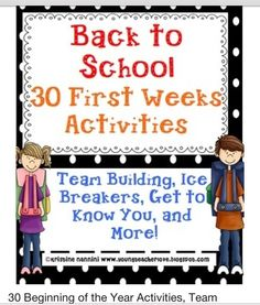 Back to school activities...might have to use some of these