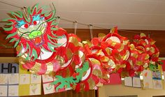 Chinese Dragon Display, classroom display, Dragon,chinese new year – Celebrations Chinese New Year Activities, New Years Activities, Eyfs Activities, School Displays, Classroom Displays, New Year's Crafts, Arts And Crafts, Kid Crafts, Chinese New Year Dragon