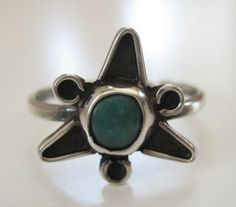TAXCO Mexico Sterling Silver Ring Blue Stone Eagle 3