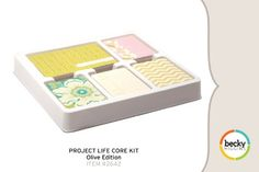 Amazon.com: Project Life by Becky Higgins Core Kit - Olive Edition: Arts, Crafts & Sewing