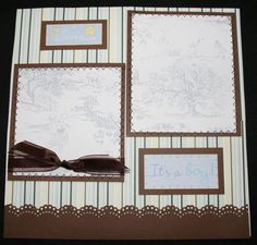 BABY BOY Premade Scrapbook Album 8X8 20 Pages Sewn OUAS picture