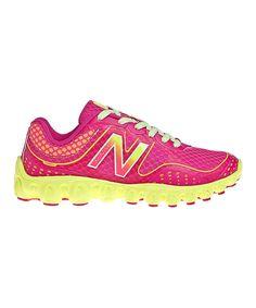 Pink & Yellow K3090v2 Running Shoe by New Balance #zulily #zulilyfinds. Big Kid, $17.99