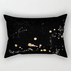 Black Long Pillow Black Lumbar Pillow Black by SaudadePrints