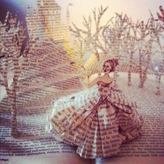 Story Books by Katy Strutz. In this series of sculptures I used old books to illustrate three classic Brothers' Grimm fairytales: Snow White, Cinderella and Rapunzel