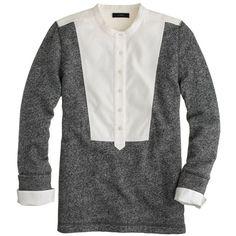 J.Crew Tuxedo bib sweatshirt ($88) found on Polyvore
