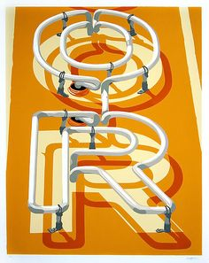 Artist Dave Lefner.  Reduction linocut in 8 colors.  Rep'ed by Skidmore Contemporary Art.