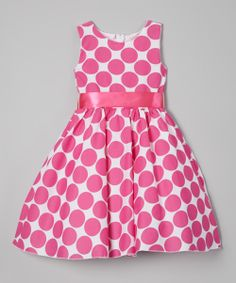Fuchsia Polka Dot A-Line Dress - Infant, Toddler & Girls | something special every day