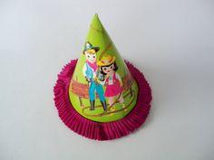 Vintage Birthday Party Hat by fleamarketfloozie on Etsy