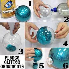 6 Step Pledge Glitter Ornaments | DIY