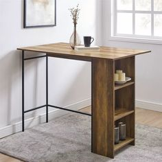 Dining Table With Storage, Dining Table Lighting, Round Dining Table, Bar Table Sets, Counter Height Pub Table, Drop Leaf Table, Reclaimed Barn Wood, Small Space Living, Adjustable Shelving