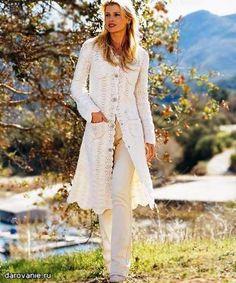 Вязание крючком пальто кардиганы