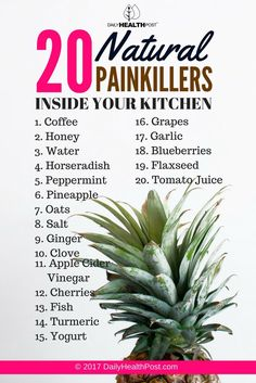 Food Is Medicine: 20 Natural Painkillers Inside Your Kitchen - Page 6 of 6