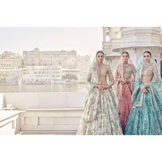 The Udaipur Collection. Spring Couture 2017 Wedding Outfits by Sabyasachi - Floral Lehenga, Bridal Lehenga, Pink Lehenga, Indian Lehenga, Saris, Wedding Looks, Bridal Looks, Indiana, Sabyasachi Collection