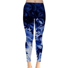 Leggings ($40) ❤ liked on Polyvore featuring pants, leggings, stretch leggings, stretchy leggings, light weight pants, lightweight leggings and blue leggings