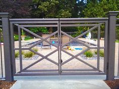 Wrought iron pool fencing gate