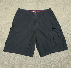 Tommy Hilfiger Men's Cargo Shorts Tommy Jeans Casual Black Size 36 Free SHIP   eBay