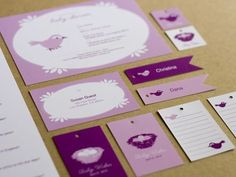 Pink + Purple Baby Shower Invitations | Design + Photo: One for You