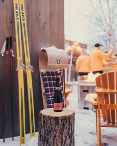 Do it the Clicquot in the Snow way and gather round the fire for good times and Veuve Clicquot Rosé. Ski Canada, Ski Slopes, Veuve Clicquot, Apres Ski, Good Times, Champagne, Fire, Snow, Photo And Video