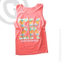 SIGMA KAPPA NEON TRIBAL COMFORT COLOR TANK CUSTOM GROUP ORDER!!