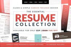 Essential Resume Collection by bilmaw creative on @creativemarket