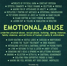 Emotional abuse is as damaging as physical abuse, if not more. Emotional abuse underlies every other kind of abuse there is. Trauma, Verbal Abuse, Signs Of Emotional Abuse, Emotional Child, Narcissistic Personality Disorder, Narcissistic Sociopath, Narcissistic Behavior, Personality Disorder Types, Frases