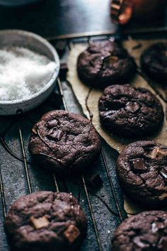 Chocolate Brownie Cookies Recipe   Also The Crumbs Please  These Chocolate Brownie Cookies are a crowd pleaser. Super fudgy, intensely chocolatey, extremely easy to make. Just 10 ingredients and 10 minutes preparation time! With video.  #chocolatebrowniecookies #browniecookies #fudgebrowniecookies #cookies #brownies #browniecookiesrecipe
