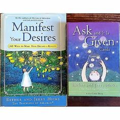 Manifest Your Desires Ask and It Is Given Cards Abraham Hicks Book Lot l128