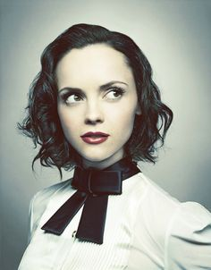 Christina Ricci I think my neice Leilany will look like her except with white blond hair and blue eyes.