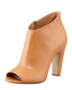 Mid-Heel Peep-Toe Ankle Boot, Camel by Maison Martin Margiela at Bergdorf Goodman.