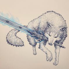 I drew Great Grey Wolf Sif! - http://ift.tt/2pOUUHL