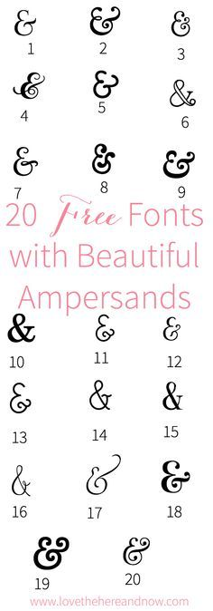 Free Fonts with Beautiful Ampersands, Ampersands, Free Fonts