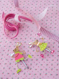Cómo decorar horquillas y letras.