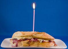Roast Beef & sharp cheddar panini with sweet caramelized onion & horseradish mayo