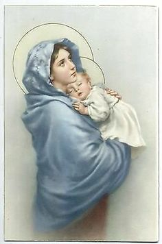 Holy Art ZANDRINO Virgin Mary & Child Jesus Religion Vintage PC Circa 1930 A