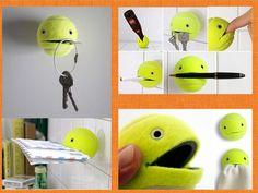 Faça Você Mesmo - Porta treco reutilizando bolinha de tênis