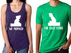 Disney Shirt // We were mermaid for each other // Ariel and