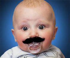 Baby moustache pacifier :D