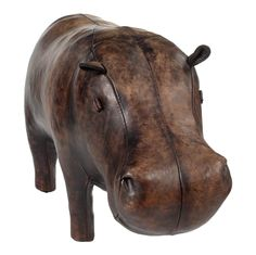 Stuffed Leather Hippo by Omersa Leather Carving, Leather Art, Leather Tooling, Leather Scraps, Kids Corner, Lion Sculpture, Gnomes, Toys, Craftsman