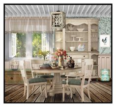 """""""COUNTRY KITCHEN DECOR"""" by desider ❤ liked on Polyvore featuring interior, interiors, interior design, home, home decor, interior decorating, Melissa Van Hise, Transpac, Fitz & Floyd and kitchen"""