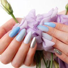 Niebieskie paznokcie hybrydowe / NeoNail